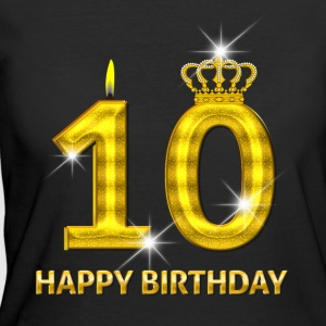 10 - Happy Birthday - Golden Number - Women's 50/50 T-Shirt