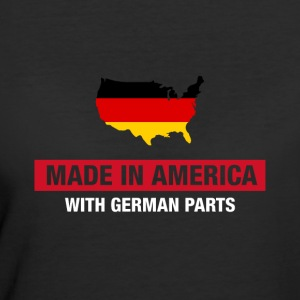 Made In America With German Parts Germany Flag - Women's 50/50 T-Shirt
