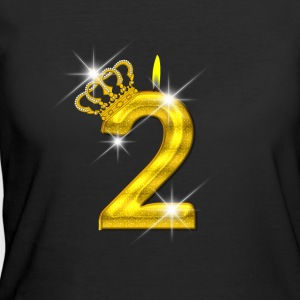 2 - Birthday - Golden Number - Crown - Flame - Women's 50/50 T-Shirt