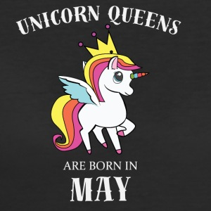 UNICORN QUEENS ARE BORN IN MAY - Women's 50/50 T-Shirt