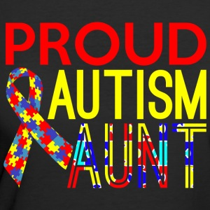 Proud Autism Aunt Awareness - Women's 50/50 T-Shirt
