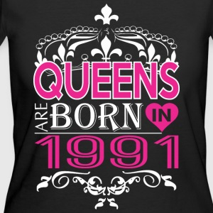 Queens Are Born In 1991 Happy Mothers Day - Women's 50/50 T-Shirt