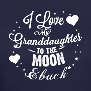 I love my granddaughter to the moon back - Women's 50/50 T-Shirt
