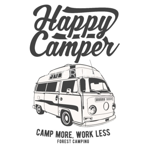 happy c er c ing rv design men s 50 50 t shirt spreadshirt Dodge Minivan design