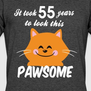 It took 55 years to look this pawsome - Men's 50/50 T-Shirt