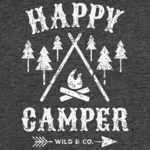 Happy Camper Camping T Shirt - Men's 50/50 T-Shirt