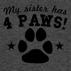 My Sister Has 4 Paws - Men's 50/50 T-Shirt
