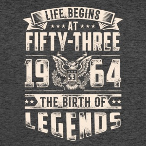 Life Begins at Fifty-Three Legends 1964 for 2017 - Men's 50/50 T-Shirt