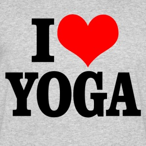 I love yoga - Men's 50/50 T-Shirt