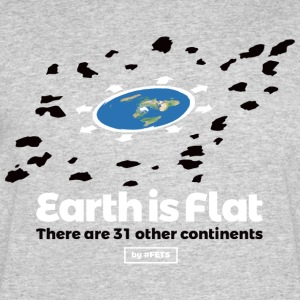 Flat Earth Design by #FETS - N3 - Men's 50/50 T-Shirt