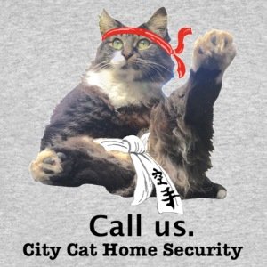 City Cat Home Security - Men's 50/50 T-Shirt