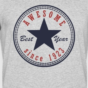 94th Birthday Awesome since T Shirt Made in 1923 - Men's 50/50 T-Shirt