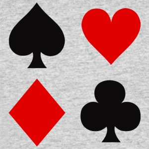 Playing Card Suits - Men's 50/50 T-Shirt