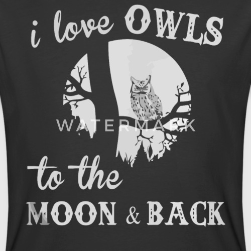 11fbb2221f I love Owls to the moon and back by Thuhang4989 | Spreadshirt