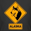 Alaska - Husky Road Sign - Men's 50/50 T-Shirt