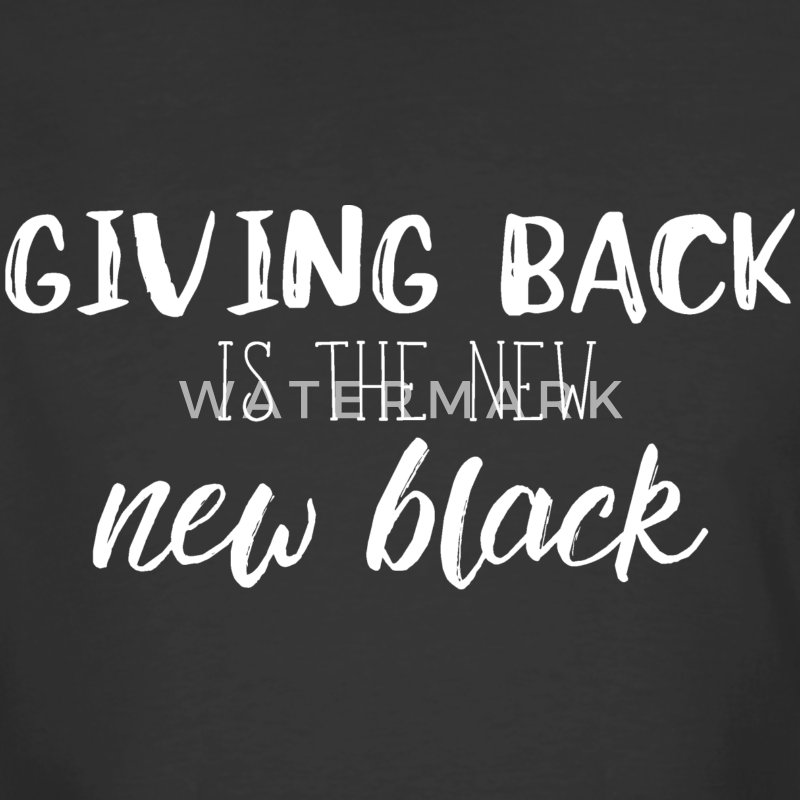 givingbackisthenewblackwhitefont - Men's 50/50 T-Shirt