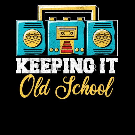 80s Disco Old School Music Radio Player Men's 50/50 T-Shirt