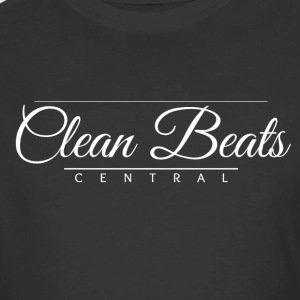 Clean Beats Central Formal Logo (White Text) - Men's 50/50 T-Shirt