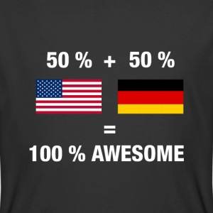 Half German Half American 100% Awesome Flag German - Men's 50/50 T-Shirt