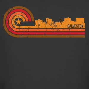 Retro Style Galveston Texas Skyline Distressed - Men's 50/50 T-Shirt