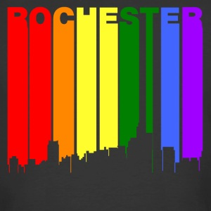 Rochester Michigan Gay Pride Rainbow Skyline - Men's 50/50 T-Shirt