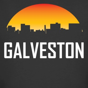 Galveston Texas Sunset Skyline - Men's 50/50 T-Shirt