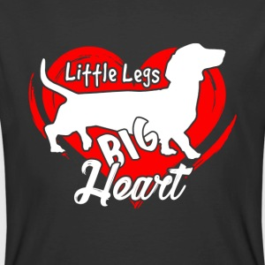 DACHSHUND BIG HEART T-SHIRT - Men's 50/50 T-Shirt