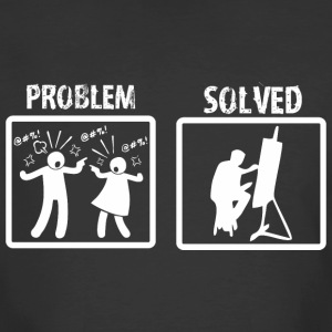 Problem Solved Painting - Men's 50/50 T-Shirt