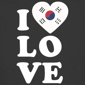 I love South Korea - Men's 50/50 T-Shirt