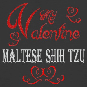A romantic Valentine with my Maltese Shih Tzu - Men's 50/50 T-Shirt