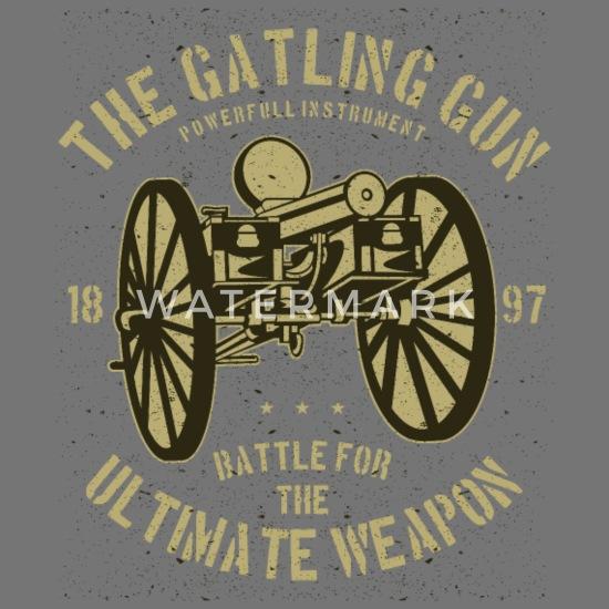 The Gatling Gun Powerful Instrument Men's 50/50 T-Shirt