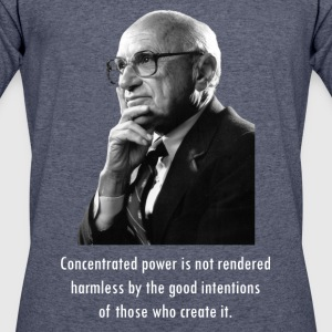 Milton Friedman Concentrated Power white - Men's 50/50 T-Shirt