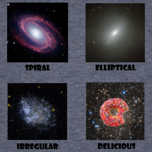 types of Galaxies - Men's 50/50 T-Shirt