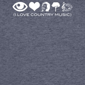 I Love Country Music - Men's 50/50 T-Shirt