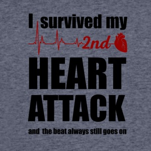 I survived my second Heart Attack - Men's 50/50 T-Shirt