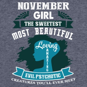 November girl The sweetest Most beautiful - Men's 50/50 T-Shirt