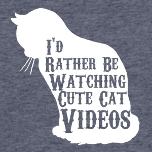I'd rather be watching cute cat videos - Men's 50/50 T-Shirt