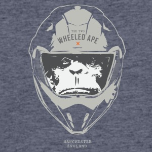 The Two Wheeled Ape Big Head Design Light - Men's 50/50 T-Shirt