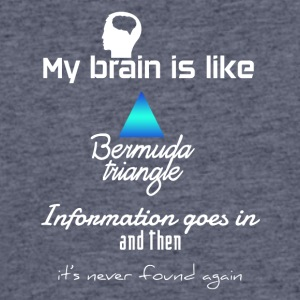 My brain is like Bermuda's - Men's 50/50 T-Shirt