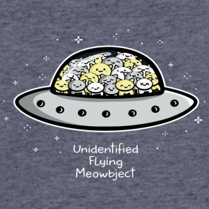 Unidentified Flying Meowbject - Men's 50/50 T-Shirt