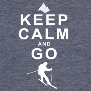 Keep Calm and go skiing - Men's 50/50 T-Shirt