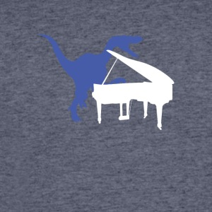 Velociraptor Playing Piano - Men's 50/50 T-Shirt