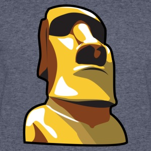 Gold Moai, Easter Island statue covered in gold - Men's 50/50 T-Shirt