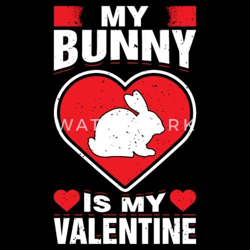 My Bunny Is My Valentine S Day Pet Pun Rabbit Love Men S Ringer T
