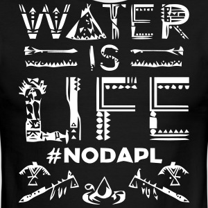 Water is Life #NoDAPL - Men's Ringer T-Shirt