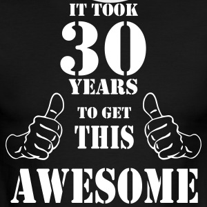 30th Birthday Get Awesome T Shirt Made in 1987 - Men's Ringer T-Shirt