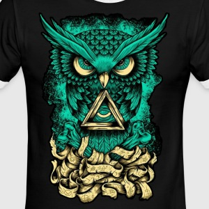Illuminati Owl - Men's Ringer T-Shirt