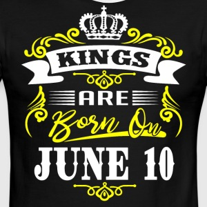 Kings are born on JUNE 10 - Men's Ringer T-Shirt