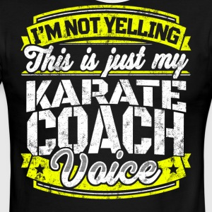 Funny Karate coach: My Karate Coach Voice - Men's Ringer T-Shirt