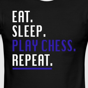 Cool Eat Sleep Play Chess Repeat Novelty Shirts - Men's Ringer T-Shirt